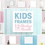 Kids frame mockups 8x10, nursery mockups, 8x10 bundle, nursery frame mockup