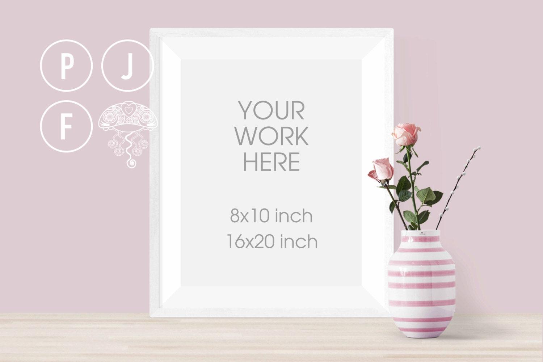 8x10 frame mockup mockup 16x20 white frame mockup vase