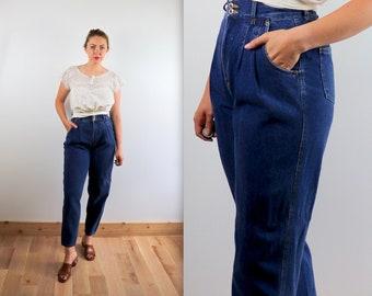 4683b2da Vintage 90's Pleated High Waist Baggy Jeans 27