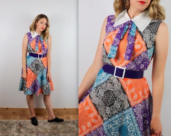 Vintage 60s Handkerchief Collar Dress