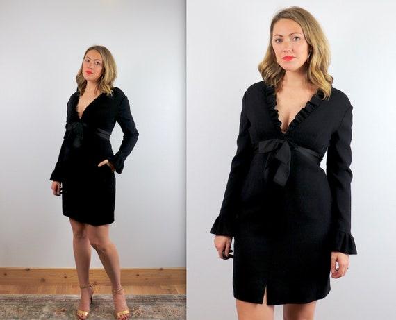 Vintage 1960's Black Cocktail Mini Dress