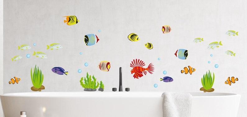 Fische Wandtattoo Wandsticker Aquarium Wandbild Badezimmer | Etsy