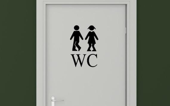Wc Autocollants De Porte De Toilettes Wc Sticker Mural