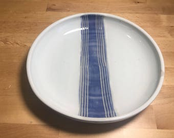 Large Striped Plate
