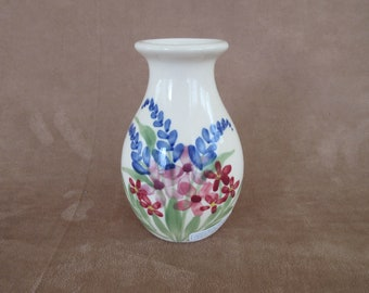 Emerson Creek Pottery USA Bud Vase with Hand-Painted Flowers