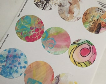 Journaling And Planner Sticker Download - Large Circles