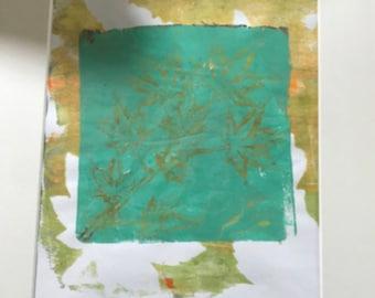 Original, Artwork, Matted But UnFramed Monoprint Series #1