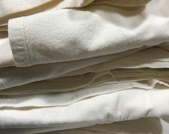 Off White Cotton Tea Towel