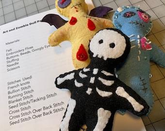 Felt and Zombie Doll Pattern Bundle