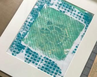 Original, Artwork, Matted But UnFramed Monoprint Series #5