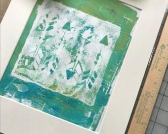 Original, Artwork, Matted But UnFramed Monoprint Series #2