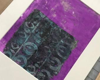 Original, Artwork, Matted But UnFramed Monoprint Series #3