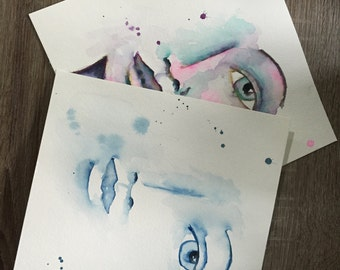 Watercolor Wednesday Live Class Simple Faces .pdf And More Expressive Faces .pdf
