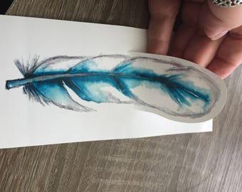 Large Vinyl Sticker Feather #3