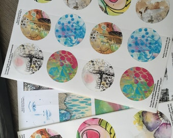 Journaling And Planner Sticker Download - Small Circles