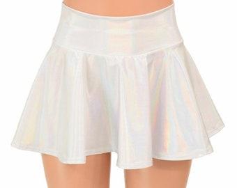 Flashbulb Holographic Circle Cut Rave Skirt  151283