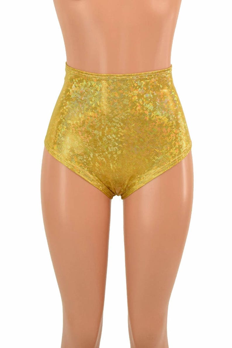 fb39106259 High Waist Siren Hot Pants in Gold on Gold