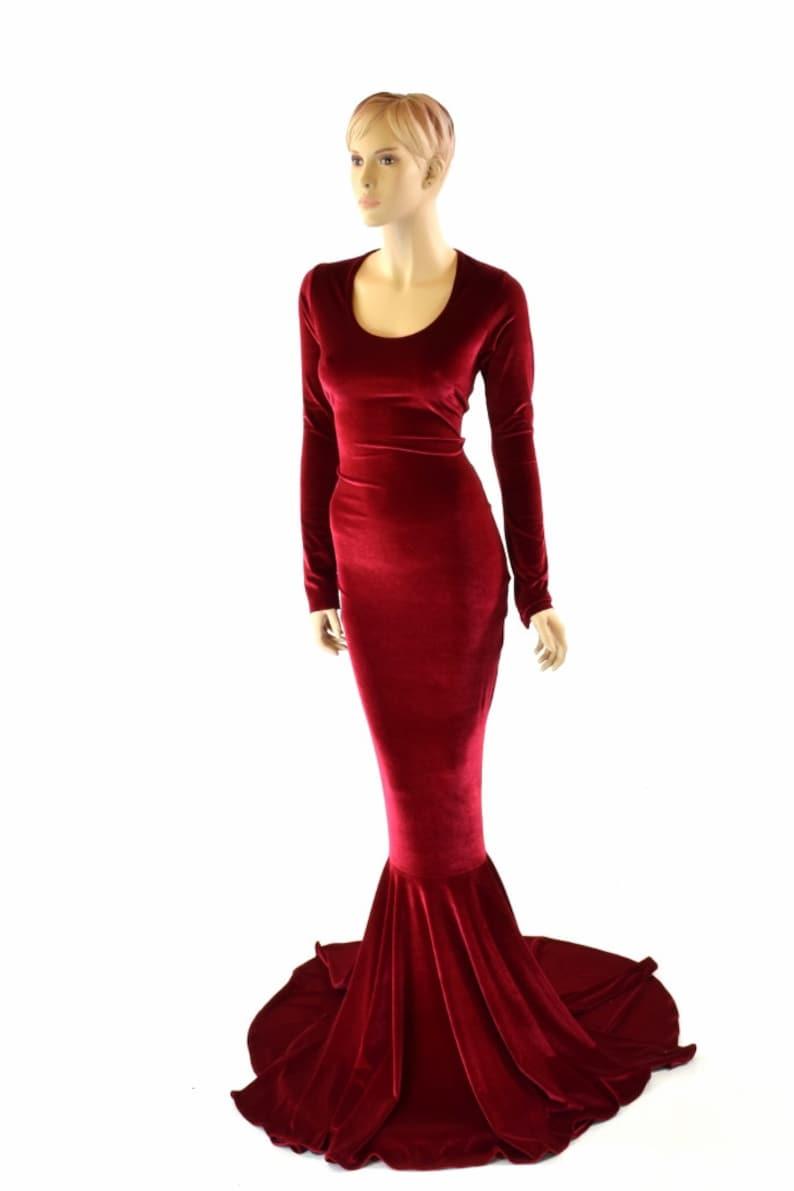 fluwelen jurk voor bruidsmeisje