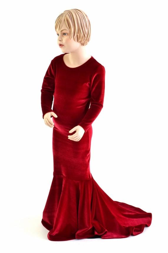 Madchen Red Velvet La Muerta Puddle Train Kleid Kleid 152857 Etsy