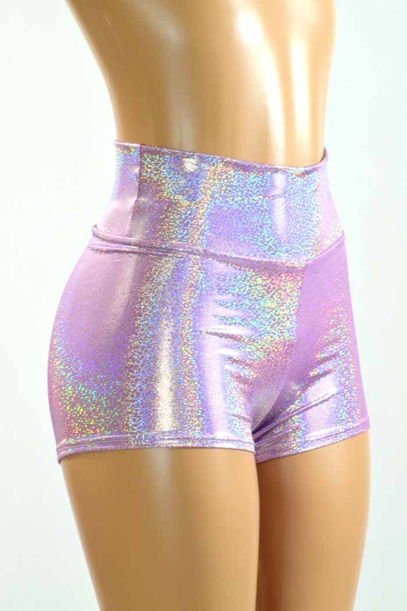 metallic spandex shorts