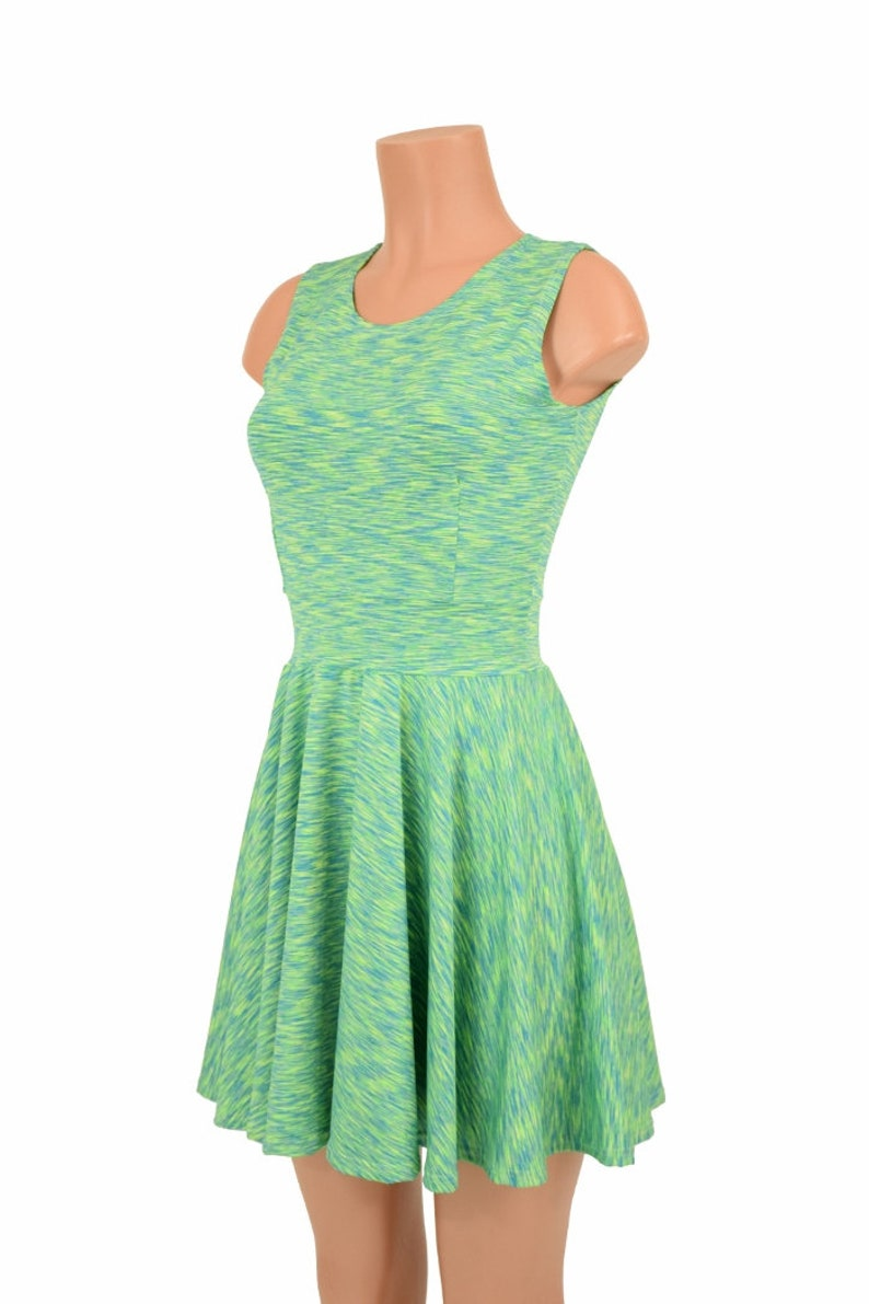 29db13d4106 Midori Soft Knit Fit and Flare Sleeveless Crew Neck Skater