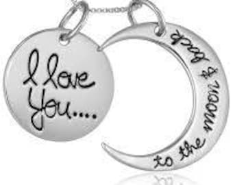 I love you.... to the moon & back Necklace