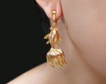 Up-Cycled Gold plated Khoi Earrings