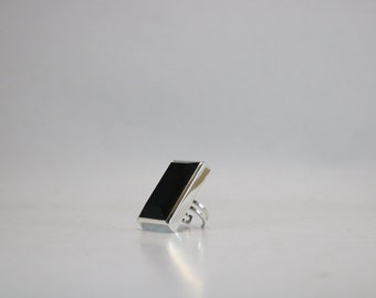 Onyx Upcycled Silver Ring