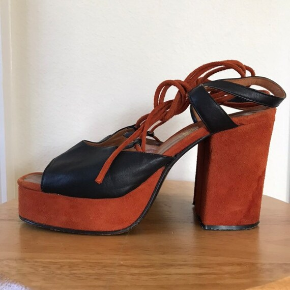 1960s 70s Hippie Platforms Mademoiselle Made in it