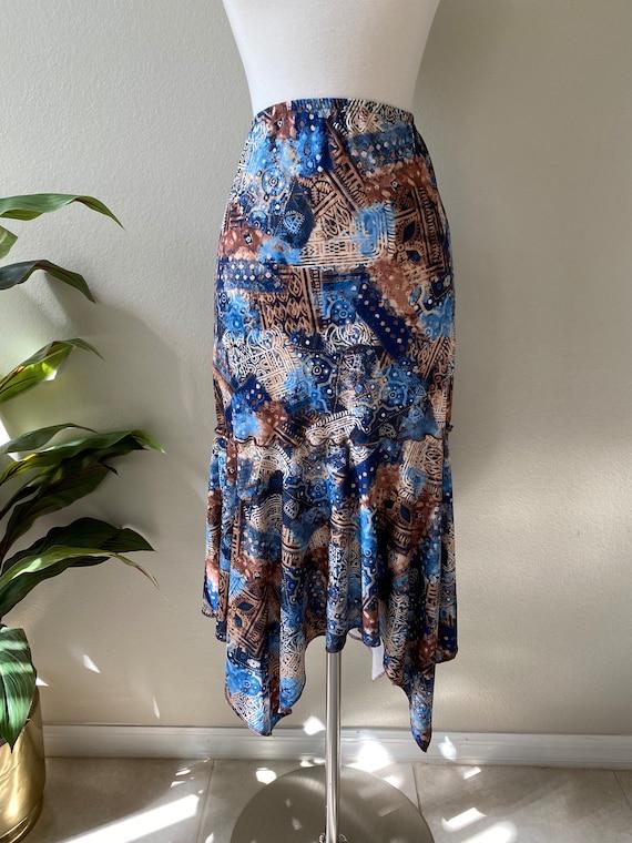 Y2K Skirt Western Midi Skirt Asymmetrical Skirt T… - image 8