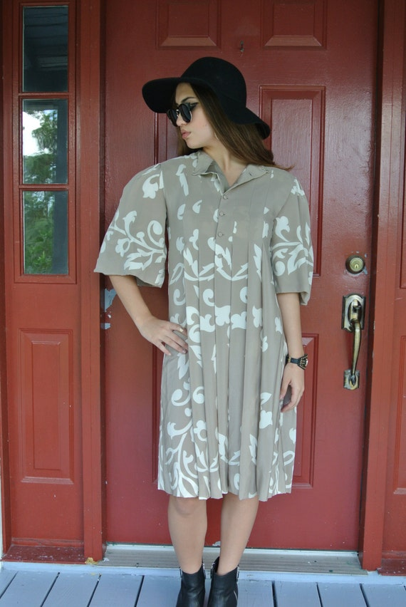 Vintage Dress,Parisian Bohemian Chic Silk Dress b… - image 2