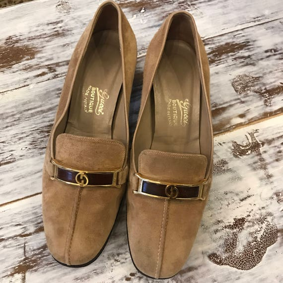 Gucci Loafer Stacked Heel Oxfords Suede