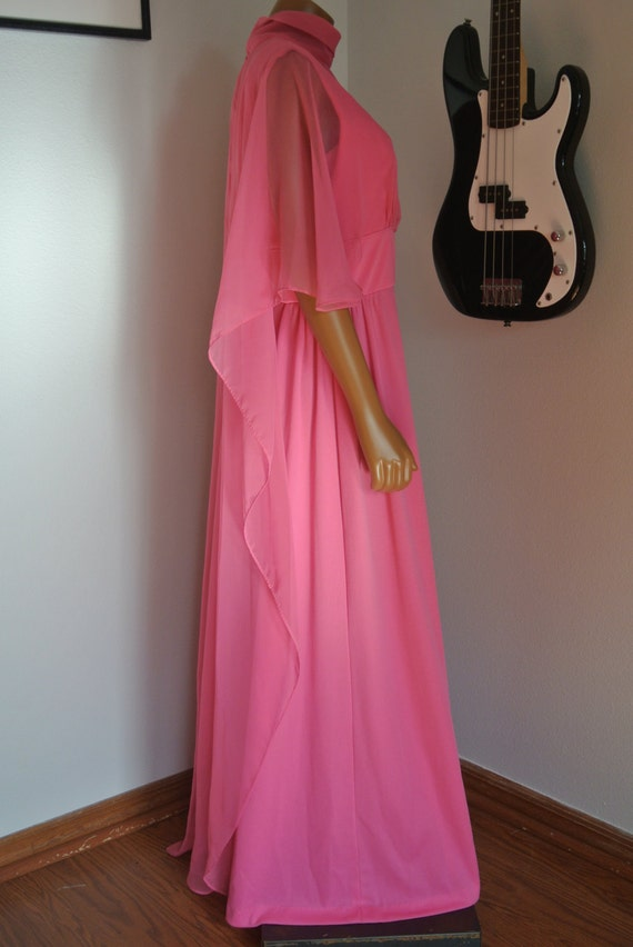 CLEARANCE SALE1960s Dress Pink Long Maxi Gown Dres