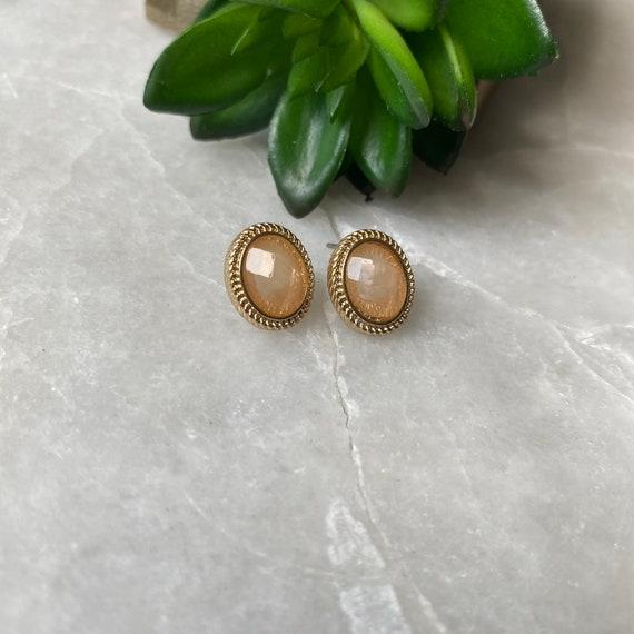 Vintage Earrings, Monet Earrings, Faceted Crystal… - image 5