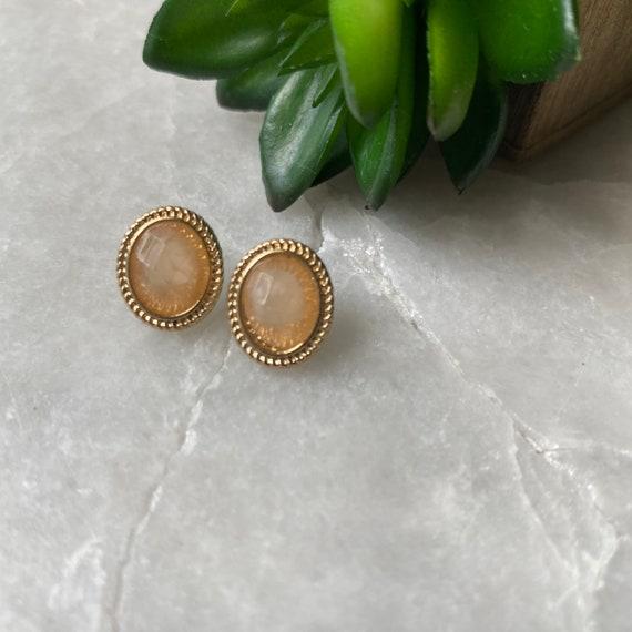 Vintage Earrings, Monet Earrings, Faceted Crystal… - image 6