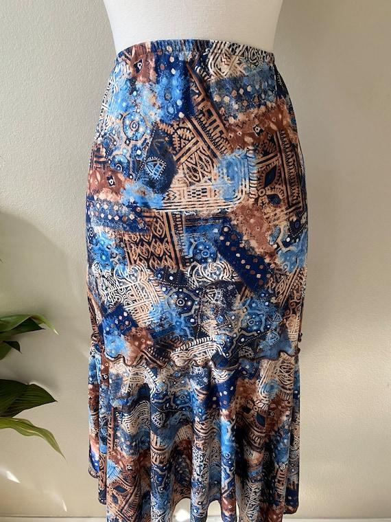 Y2K Skirt Western Midi Skirt Asymmetrical Skirt T… - image 4