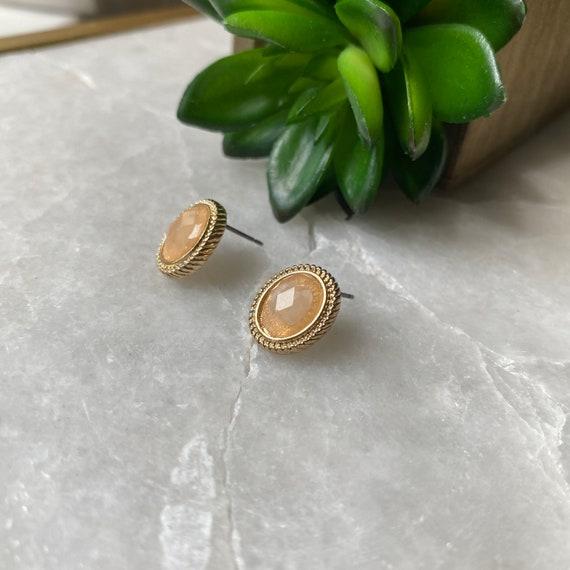 Vintage Earrings, Monet Earrings, Faceted Crystal… - image 4