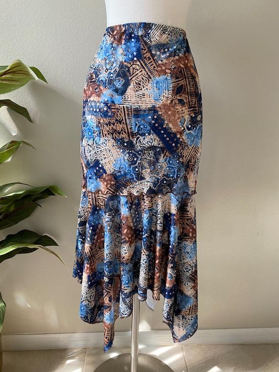 Y2K Skirt Western Midi Skirt Asymmetrical Skirt T… - image 3