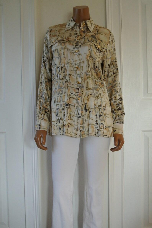 a2dfa94f2975dd ESCADA Blouse by Margaretha Ley Silk Career blouse Size | Etsy
