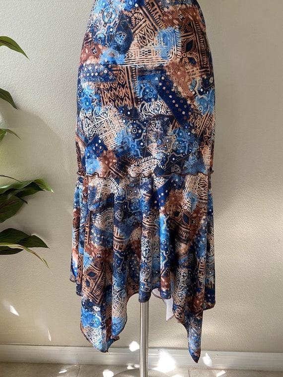 Y2K Skirt Western Midi Skirt Asymmetrical Skirt T… - image 5