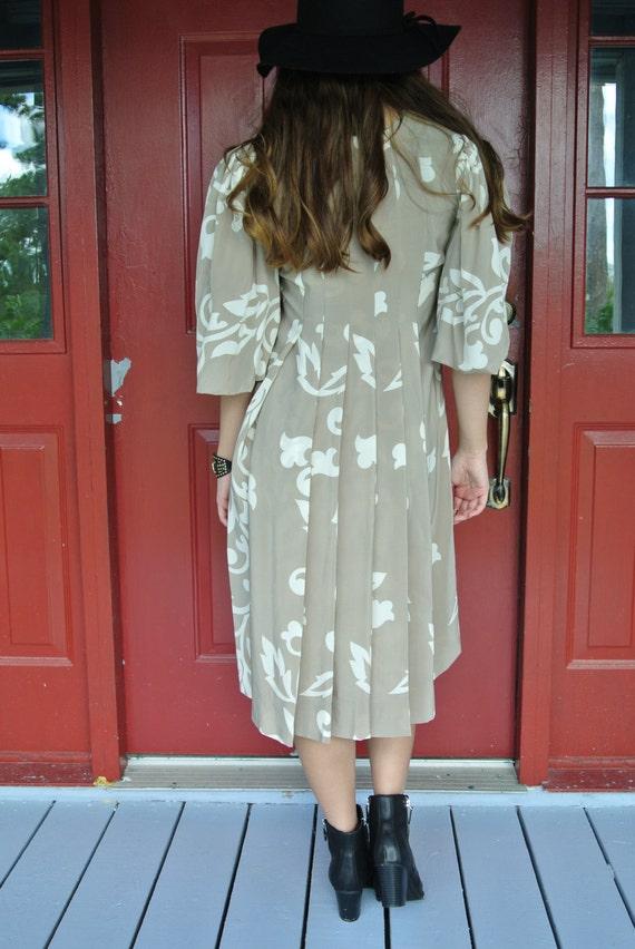 Vintage Dress,Parisian Bohemian Chic Silk Dress b… - image 4