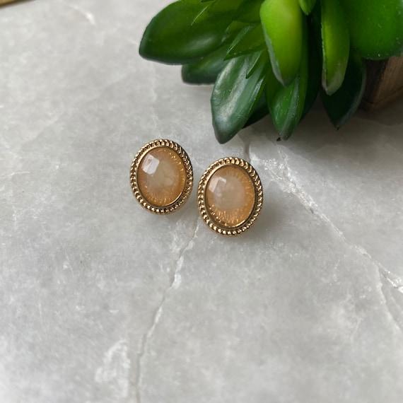 Vintage Earrings, Monet Earrings, Faceted Crystal… - image 1