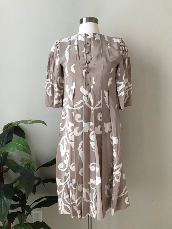Vintage Dress,Parisian Bohemian Chic Silk Dress b… - image 7