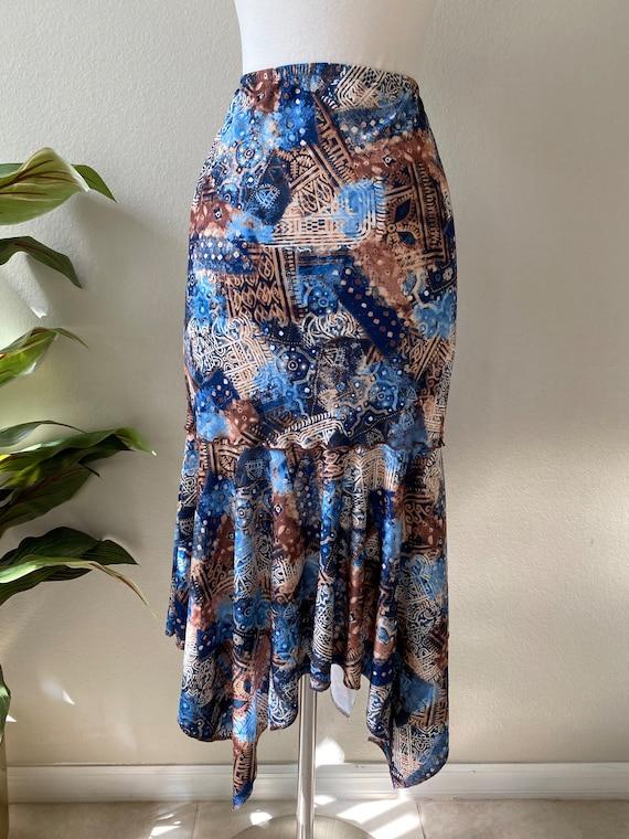 Y2K Skirt Western Midi Skirt Asymmetrical Skirt T… - image 7