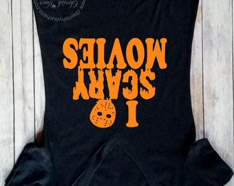I Heart Scary Movieshalloween Shirt Halloween Tankwomens Clothing Halloween Costume Shirt Funny Halloween Shirthalloween Shirts