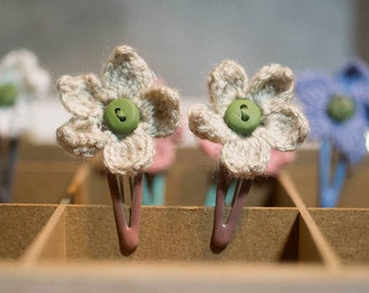 Pippa - Handmade Crochet Hair clips