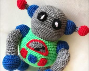 Toy Robot, Handmade Crochet Stuffed Toy Robot, Robot Childs Toy, Stuffed Toy, Stuffed Animal, Robot Plushi, Robot Arigurumi Toy, Childs Toy