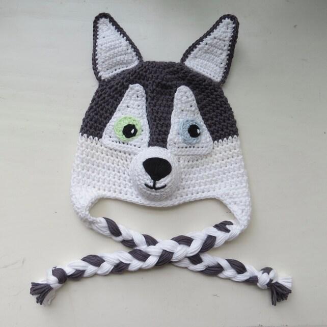 Husky perro sombrero sombrero de ganchillo hecho a mano   Etsy