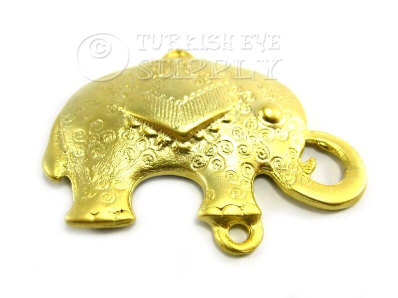 Turkish Jewelry 2 Pc Bronze Elephant Pendant Antique Bronze Plated Elephant Findings Exotic Elephant Pendant Bronze Elephant
