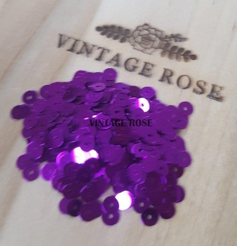 Light Violet #5161 Italian Sequins 4 mm for tambourlunevilleaari embroidery